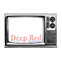 "Deep Red Cling Stamps -  Classic TV 3.5""X2"""