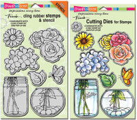 Stampendous Cling Stamps and Dies Bundle - Build A Bouquet Set