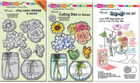 Stampendous Cling Stamps and Dies Bundle - Build A Bouquet Set & Pop-Up Die Set