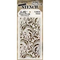 Tim Holtz Layered Stencil - Flourish