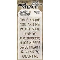 Tim Holtz Layered Stencil - Valentine
