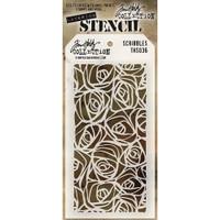 Tim Holtz Layered Stencil - Scribbles