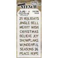 Tim Holtz Layered Stencil - Christmas