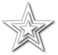 Memory Box Die - Stitched Star Layers