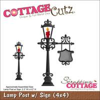 CottageCutz Die - Lamp Post W/Sign