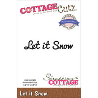 CottageCutz Expressions Die - Let It Snow