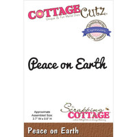 CottageCutz Expressions Die - Peace On Earth