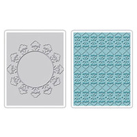 Sizzix Textured Impressions Embossing Folders 2PK - Folksy Circle & Fun Set by Brenda Pinnick
