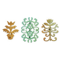 Sizzix Sizzlits Die Set 3PK - Floral Insignia Set by Scrappy Cat
