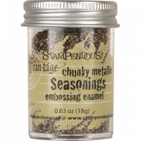Stampendous Chunky Metallic Embossing Enamels - Seasonings