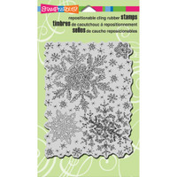 Stampendous - Cling Snowflake Sky