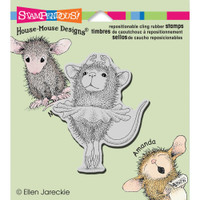 Stampendous: House Mouse Stamps - Cling Ballerina Baby