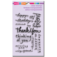 Stampendous - Clear Stamp Happy Messages