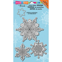 Stampendous - Jumbo Cling Stamp Delicate Snow