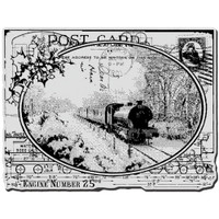 Stampendous - Cling Stamp Train Postcard