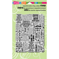 Stampendous - Cling Stamp Coffee Background