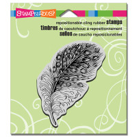 Stampendous - Cling Stamp Spotted Feather