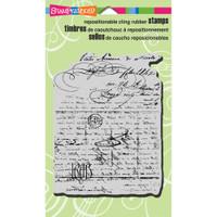 Stampendous - Cling Stamp Vintage Letter