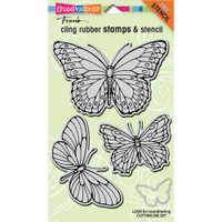 Stampendous - Jumbo Cling Stamp PenPattern Butterflies