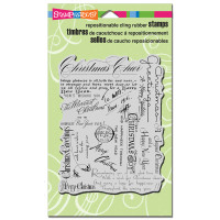 Stampendous - Cling Stamp Christmas Background