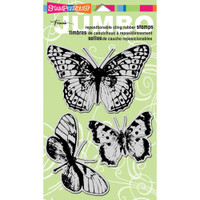 Stampendous - Jumbo Cling Stamp Butterfly Trio