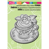 Stampendous - Cling Stamp Teacup Cupcake