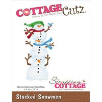 CottageCutz Die - Stacked Snowmen