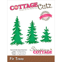 CottageCutz Die - Fir Trees