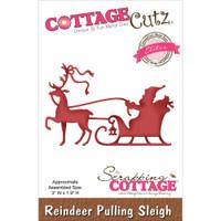 CottageCutz Die - Reindeer Pulling Sleigh