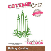 CottageCutz Die - Holiday Candles