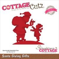 CottageCutz Die - Santa Giving Gifts