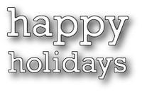 Memory Box Poppystamps Dies - Proper Happy Holidays