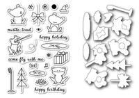 Memory Box Open Studio Stamps & Dies - Hoppy Holiday Die Set