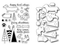 Memory Box Open Studio Stamps & Dies - Santa Paws Die Set