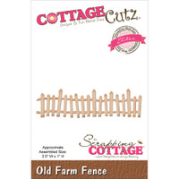 CottageCutz Elites Die -  Old Farm Fence