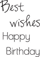 KaiserCraft Mini Clear Stamps - Wishes Words