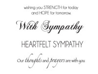 KaiserCraft Mini Clear Stamps - Sympathy Words