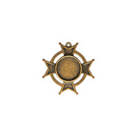 Spellbinders A Gilded Life - Iron Cross Bezel - Small - Bronze