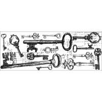 KaiserCraft Clear Stamp Texture - Keys