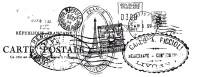 KaiserCraft Clear Stamp Texture - Postmarks