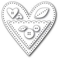 Memory Box Craft Dies - Plush Heart Pocket