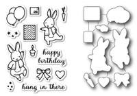 Memory Box Open Studio Stamps & Dies Bundle - Birthday Bunnies