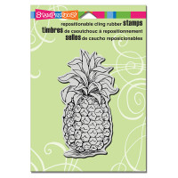 Stampendous Cling Rubber  Stamps - Tropical Pineapple