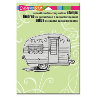 Stampendous Cling Rubber  Stamps - Tiny Trailer