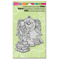 Stampendous Cling Rubber  Stamps - Owl Clock