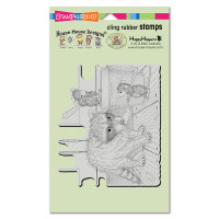 Stampendous Cling Rubber  Stamps - Ice Cream Bandit