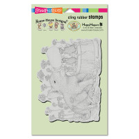 Stampendous Cling Rubber  Stamps - Piglet Pals