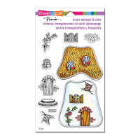 Stampendous Clear Stamps and Die Set - Cottage Home
