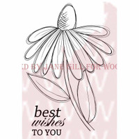 """Woodware Clear Stamps 3.5"""" X 5.5"""" - Whimsical Flower Sally Anne"""