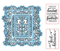 Simply Refined Dies & Stamps - Endearments, Graceful Gate Frame